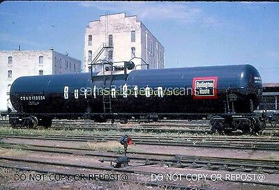 Dupe Slide Chicago Burlington & Quincy Rr 130034 Jumbo Tank Car