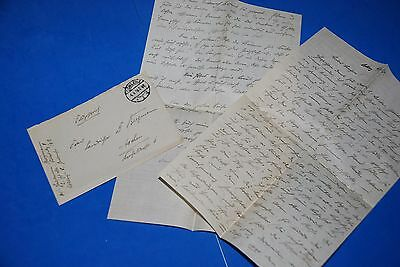 1918 World War, German Captain Field Post Vintage old Letter WWI, Antique L62