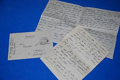 1918 World War, German Captain Field Post Vintage old Letter WWI, Antique L63