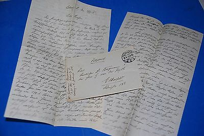 1918 World War, German Captain Field Post Vintage old Letter WWI, Antique L65