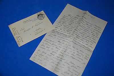 1918 World War, German Captain Field Post Vintage old Letter WWI, Antique L66
