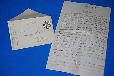 1918 World War, German Captain Field Post Vintage old Letter WWI, Antique L67