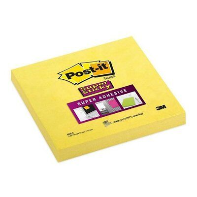 """NEW 3M Super Sticky Post It Notes - 1 pads of 90 - 76mm x 76mm (3"""" x 3"""")"""