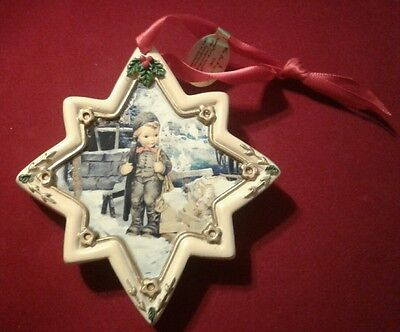 """Hummel Christmas Ornament Eight Pointed Star Shaped """"Chimney Sweep"""""""