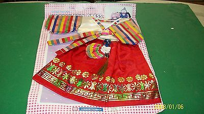 fits CABBAGE PATCH kids  DOLL ORIENTAL OUTFIT