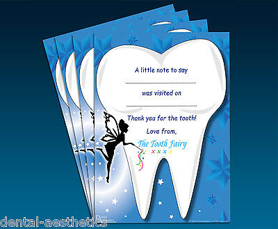 Childrens Tooth Fairy Certificates (Set of 4) Reward Gift for Girls Boys Pillows