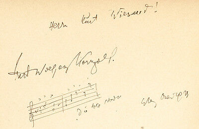 Erich KORNGOLD (Composer): Signed Biography with AMQS from Die Tote Stadt