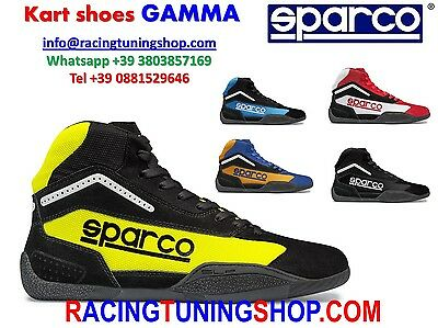 Scarpe Kart Sparco 2017 Gamma Kb4 Adulto/bimbo Karting Shoes Schuhe Adult Child