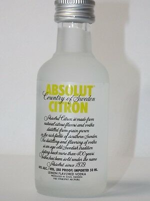 Absolut Vodka Citron OLD 40% 50ml mini flaschen bottle miniature bottela