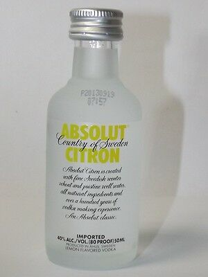 Absolut Vodka Citron  40% 50ml mini flaschen bottle miniature bottela