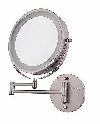 LED Lighted Vanity Makeup Mirror Wall Mount Bathroom Mirror 10x Magnification