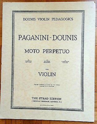Paganini/Dounis: Moto Perpetuo for Violin (Sheet Music Book)