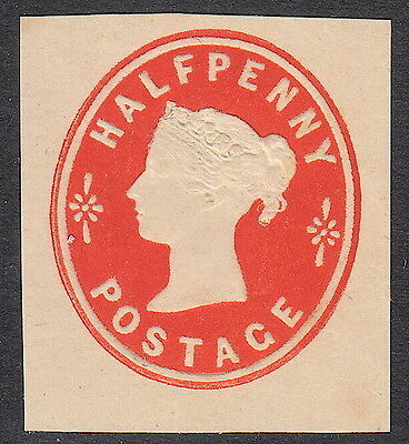 Victorian QV GB Postal Stationery ½d  - Mounted Mint