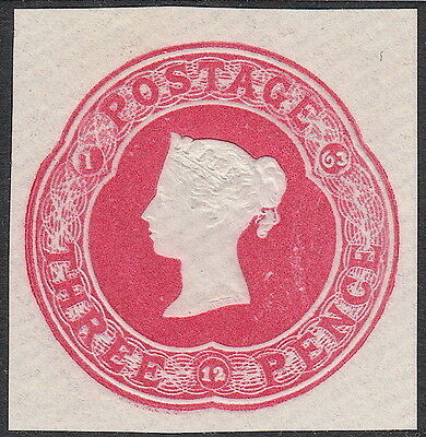 Victorian QV GB Postal Stationery 3d  - Mounted Mint