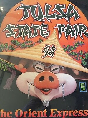 Vintage 1987 Tulsa OK State Fair Orient Expressed Recalled Controversial Poster