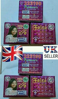 6X FAIZA BEAUTY CREAM WHITENING CREAM 100% ORGINAL Size L Free Tracked Delivery