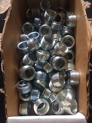 "Box of 125) Enerson Appleton RB75-50 Reducing Bushing Threaded 3/4"" x 1/2"" Steel"