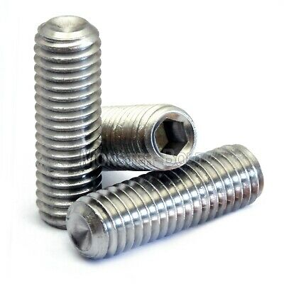 M6 Stainless Steel Set Screws with Cup Point, Socket (Allen key) Drive, DIN 916