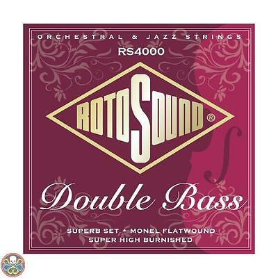 Rotosound Rs4000M Superb Double Bass Nylon/monel Flatwound Nuovo