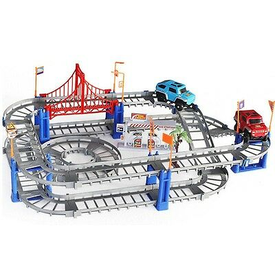 New Kids Toys Child DIY Assembling Slot Car Track Set Electric Racing Rail Gift