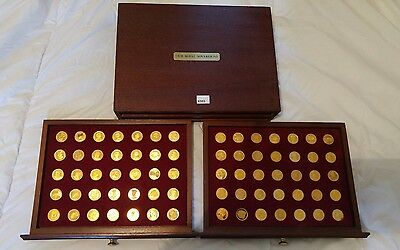 Danbury Mint 22ct gold plated Our Royal Sovereigns collection