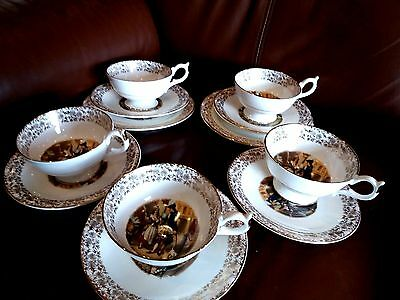 Antique Victorian Tea Set in Gold Leaf -Cries of London Who will Buy My Lavender