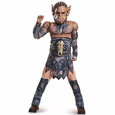 Warcraft Durotan Muscle Torso Boys Halloween Costume Size Large