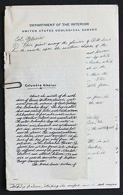 Manuscript Account of Travel in Alaska July - August c. 1924, 51 pages