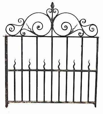 19Th Century Victorian Ornamental Salvaged Chicago Wrought Iron Exterior Gate