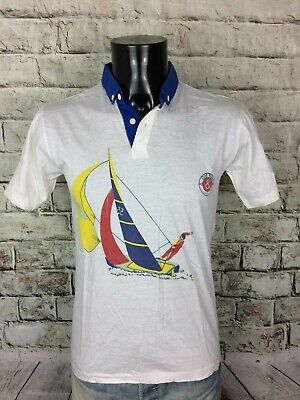 OLD RIVER Paris Polo True Vintage Made in Italy Sailing Navigation Boat Race Sea