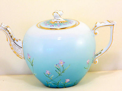 HEREND IRIS TURQUOISE TEAPOT,30 fl OZ HOLD,brand new boxed,RARE