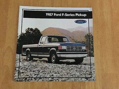 Vintage 1987 Ford F-Series Pickup Truck Sales Brochure Original 150, 250, 350