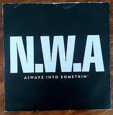 "N.W.A.‎– ""Alwayz Into Somethin' / Express Yourself"" Rare original 1991 UK 7"""