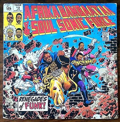 "Afrika Bambaata & Soul sonic force-""Renegades of funk"" original 1984 UK 7"""