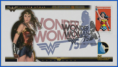 Wonder Woman...  DC Comics... First Day Cover 2016 Movie #211 NEW!