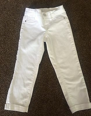 Girls Justice Size 8s White Jeans