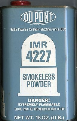 Vintage Dupont IMR 4227 Powder Can (EMPTY)