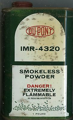 Vintage Dupont IMR 4320 Powder Can (EMPTY)