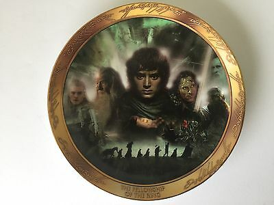Lord Of The Rings Fellowship Of The Rings Limited Bradford Collector Plate  #317