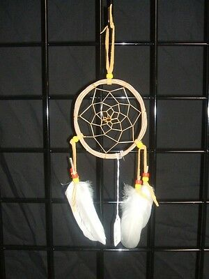 Native American Dream Catcher Reed Grapevine Traditional Feather Authentic 01-04