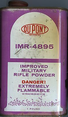Vintage Dupont IMR 4895 Powder Can (EMPTY)