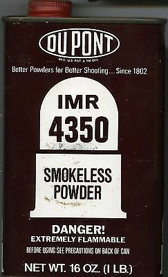 Vintage Dupont IMR 4350 Powder Can (EMPTY)