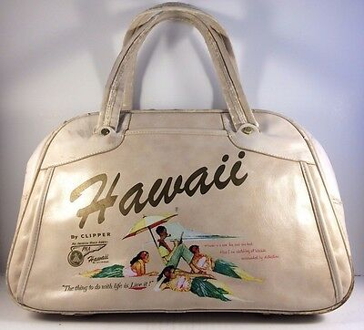Pan Am Hawaii Clipper Flight Carry On Luggage Travel Bag
