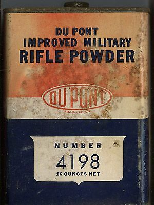 Vintage DUPONT IMR 4198 Powder Can (EMPTY)