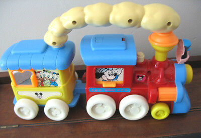 VINTAGE WALT DISNEY MICKEY MOUSE TRAIN & CARRIAGE 1960's ? TOY