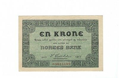 Norway - 1917, One (1) Krone  !!XF++!!