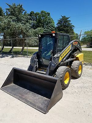 2012 New Holland L225 Skid Steer Loader Aux Hyd 2spd Diesel Cab Enclosure heat