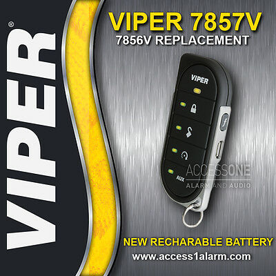Viper 7857V 2-Way LED Remote Control Transmitter Rechargeable Battery 7856V