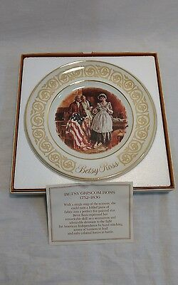 Vintage Betsy Ross Collectors Plate Avon 1973 Enoch Wedgewood