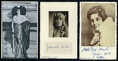 BROTHIER, CHENAL, RITTER-CIAMPI, et al: Opera and Ballet Autograph Collection